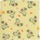 gruba ceratka z frotką zakochane koty żółty 70x100