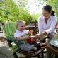 TOTSEAT - przenośne krzesełko do karmienia i nie tylko! Lime Stripe